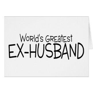 Worlds Greatest Ex Husband Card