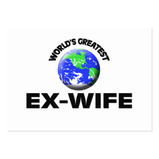 World's Greatest Ex-Wife Pack Of Chubby Business Cards