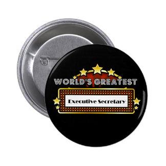 World's Greatest Executive Secretary Pins