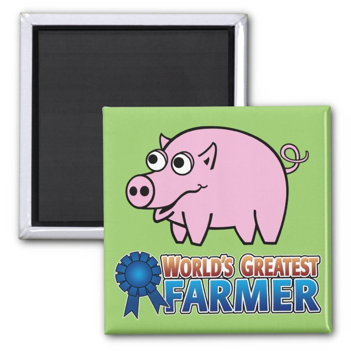 World's Greatest Famer Square Magnet