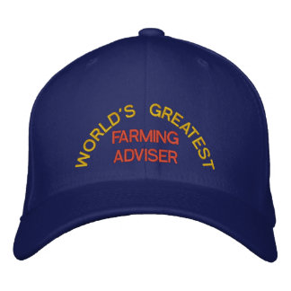 WORLD'S GREATEST, FARMING ADVISER EMBROIDERED CAP