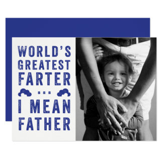 World's Greatest Farter Father's Day Photo Card