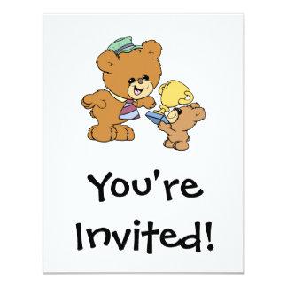 "worlds greatest father cute teddy bears design 4.25"" x 5.5"" invitation card"