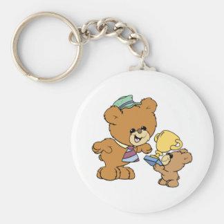 worlds greatest father cute teddy bears design keychains