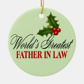 World's Greatest Father In Law Christmas Ornament