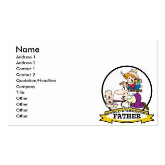 WORLDS GREATEST FATHER MEN CARTOON BUSINESS CARD TEMPLATES