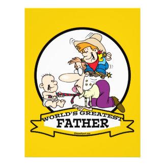 WORLDS GREATEST FATHER MEN CARTOON FLYER DESIGN