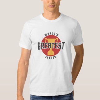 WORLD'S GREATEST FATHER (RED) T SHIRTS