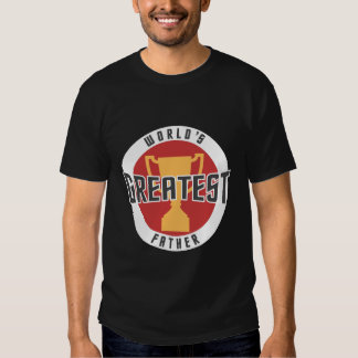 WORLD'S GREATEST FATHER (RED) T-SHIRTS