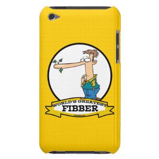 WORLDS GREATEST FIBBER MEN CARTOON iPod TOUCH CASE