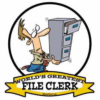 WORLDS GREATEST FILE CLERK MEN CARTOON PHOTO CUT OUT