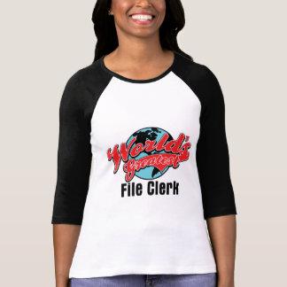 Worlds Greatest File Clerk T-shirts