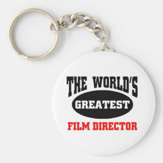 World's greatest film director basic round button key ring