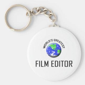 World's Greatest Film Editor Basic Round Button Key Ring