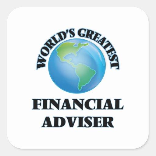World's Greatest Financial Adviser Square Stickers
