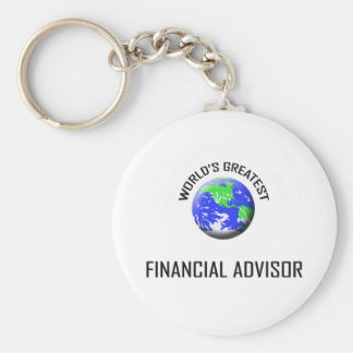 World's Greatest Financial Advisor Basic Round Button Key Ring