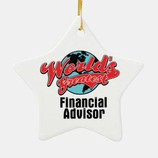 Worlds Greatest Financial Advisor Christmas Ornament