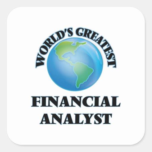 World's Greatest Financial Analyst Square Sticker