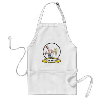 WORLDS GREATEST FINE ARTIST PAINTER CARTOON STANDARD APRON