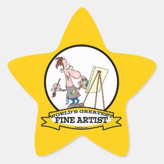 WORLDS GREATEST FINE ARTIST PAINTER CARTOON STAR STICKERS