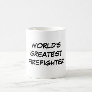 """World's Greatest Firefighter"" Mug"