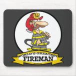 WORLDS GREATEST FIREMAN II MEN  CARTOON MOUSEPADS