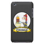 WORLDS GREATEST FIREMAN MEN CARTOON BARELY THERE iPod CASE