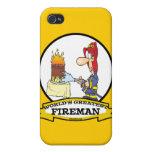 WORLDS GREATEST FIREMAN MEN CARTOON iPhone 4/4S COVERS
