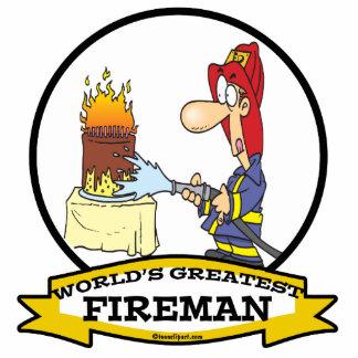 WORLDS GREATEST FIREMAN MEN CARTOON CUT OUT