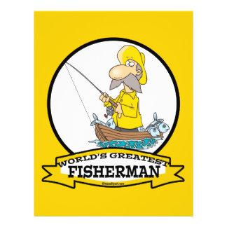 WORLDS GREATEST FISHERMAN MEN CARTOON 21.5 CM X 28 CM FLYER