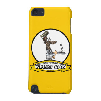 WORLDS GREATEST FLAMBE COOK CHEF MEN CARTOON iPod TOUCH 5G COVER
