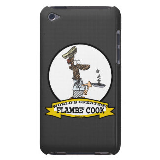 WORLDS GREATEST FLAMBE COOK CHEF MEN CARTOON iPod TOUCH CASES
