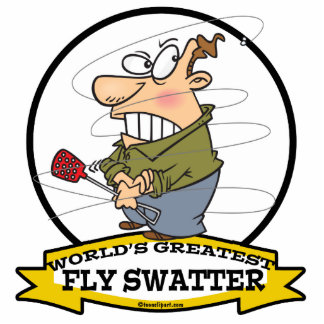 WORLDS GREATEST FLY SWATTER MEN CARTOON PHOTO CUT OUT