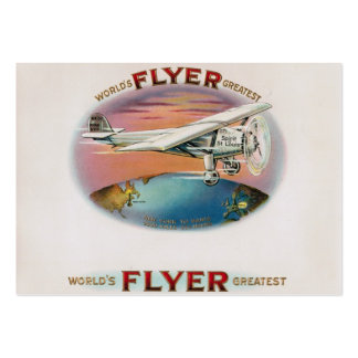 World's Greatest Flyer Vintage Golden Age Aviator Pack Of Chubby Business Cards