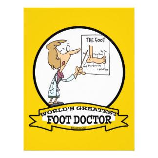 WORLDS GREATEST FOOT DOCTOR WOMEN CARTOON 21.5 CM X 28 CM FLYER