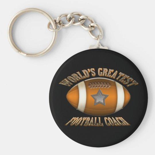 World's Greatest Football Coach Basic Round Button Key Ring