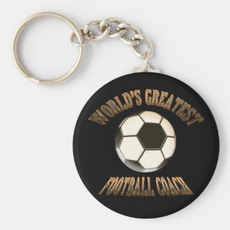 World's Greatest Football Coach Basic Round Button Key Ring