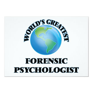 World's Greatest Forensic Psychologist Personalized Invitation