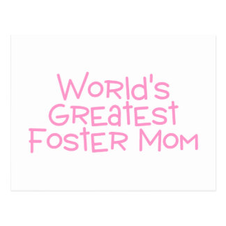 Worlds Greatest Foster Mom (Pink) Postcard