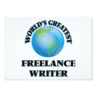 World's Greatest Freelance Writer Card