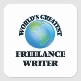 World's Greatest Freelance Writer Stickers