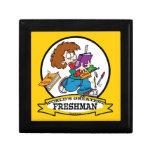 WORLDS GREATEST FRESHMAN BOY CARTOON KEEPSAKE BOXES
