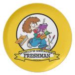 WORLDS GREATEST FRESHMAN BOY CARTOON PARTY PLATES