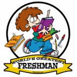 WORLDS GREATEST FRESHMAN BOY CARTOON PHOTO CUT OUT