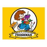 WORLDS GREATEST FRESHMAN BOY CARTOON POSTCARDS