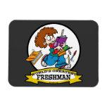 WORLDS GREATEST FRESHMAN BOY CARTOON RECTANGULAR MAGNETS
