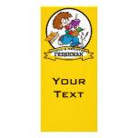 WORLDS GREATEST FRESHMAN BOY CARTOON CUSTOM RACK CARD