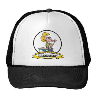 WORLDS GREATEST FRESHMAN GIRL CARTOON HATS