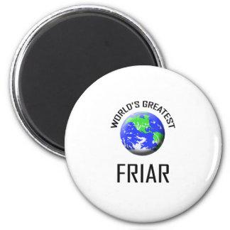World's Greatest Friar 6 Cm Round Magnet