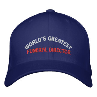 WORLD'S GREATEST, FUNERAL DIRECTOR BASEBALL CAP